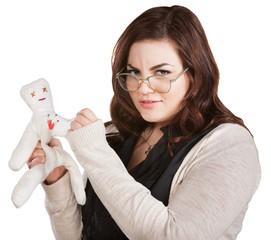 Mad Lady Sticking Doll