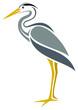 Stylized Great Blue Heron - 51249499