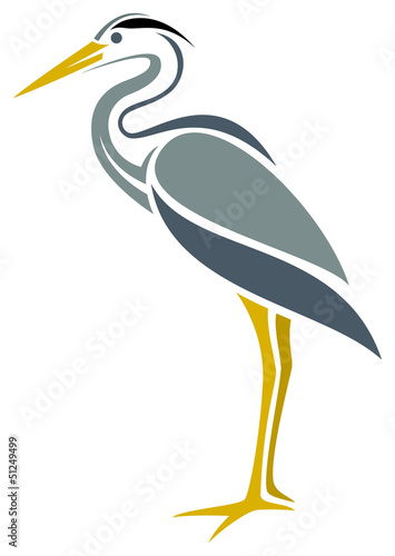 Stylized Great Blue Heron