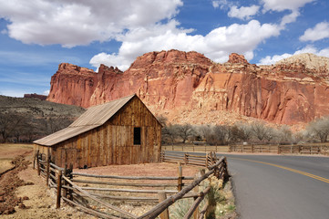 Gifford Farm Barn at Capitol Reef National Park