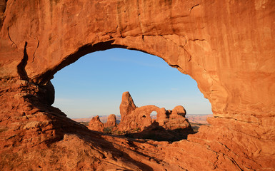 North Window Framing Turret Arch