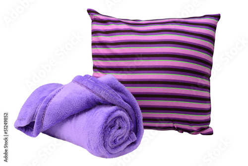 Bedding objects. Isolated
