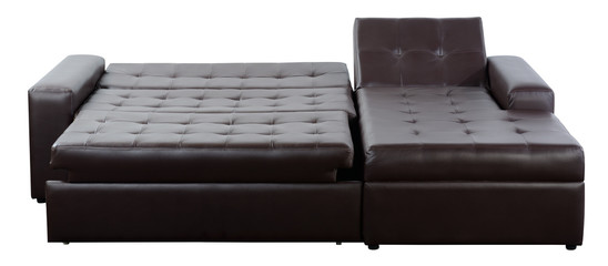 Flat bed couch. Isolated