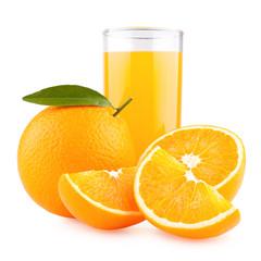 orange juice with oranges