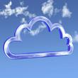 Cloud Computing tech frame in sky