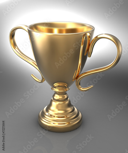 Win championship gold trophy award