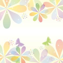 花 フレーム カラフル