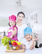 Happy family chef at home