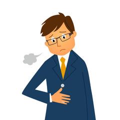 胃痛の男性