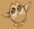 Owl Sketch Doodle Vector Art