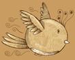 Bird Sketch Doodle Vector Art