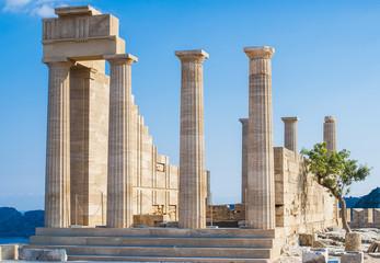 Acropolis in Lindos, Rodos Island Greece