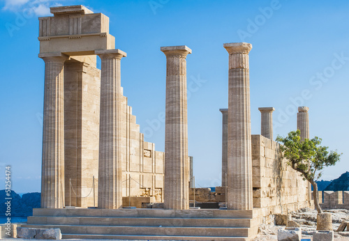 Acropolis in Lindos, Rodos Island Greece
