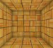 orange striped square tiled empty space