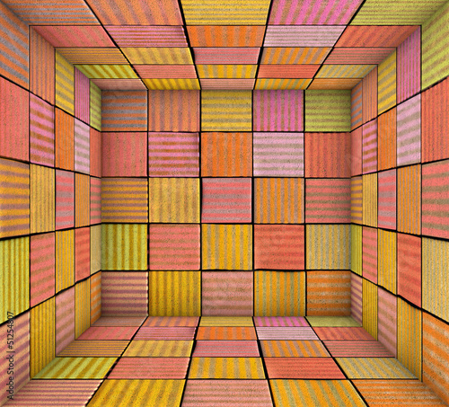 graffiti spray paint square tiled empty space
