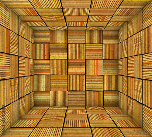 orange striped square tiled empty space