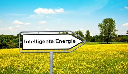 Intelligente Energie Wegweiserschild