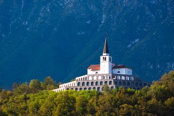 St. Anton church in Kobarid, Slovenia, Europe.