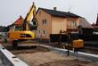 Baggerarbeiten beim Straßenbau