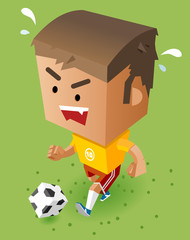 Kid playing soccer