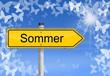Sommer Schild Himmel Sonne