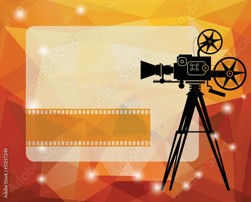 Abstract cinema background with space for text, vector