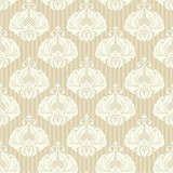 Classic ornamental wallpaper, vector seamless pattern
