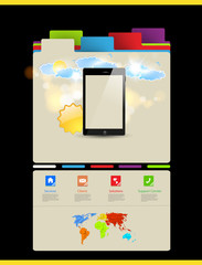 Website template, Touchscreen Mobile