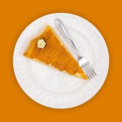 Pie on orange