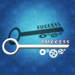 Key to business success and team work concept
