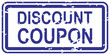Discount Coupon Rubber Stamp