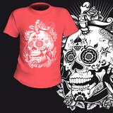 T-Shirt Print Sugar Skull