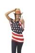 Pretty American girl in hat