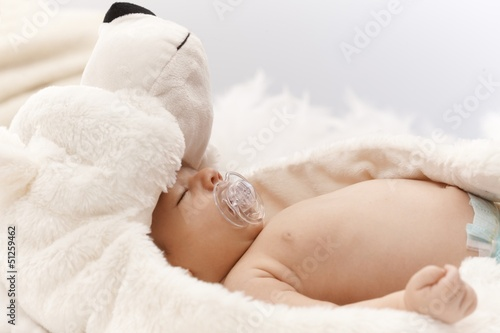 Adorable sleeping newborn baby