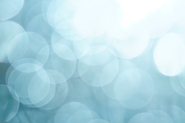 Blue bokeh shot. Abstract background