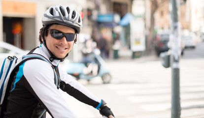 Happy Young Male Cyclist