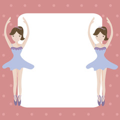 Ballet girls cartoon with empty space for your text