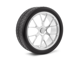 render of a wheel, isolated on white