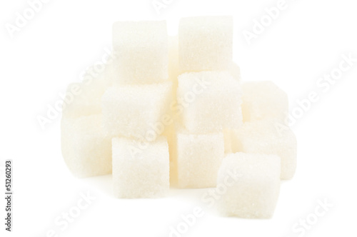 heap of sugar cube