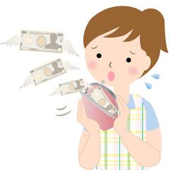 女性 お金 お財布 逃げる 支出