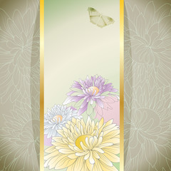 Elegant background with chrysanthemums