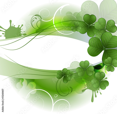 Vector background with clover