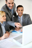 Sales people on business meeting
