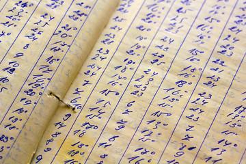 Detail of a handwritten ledger
