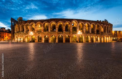 mata magnetyczna Arena, amfiteatr w Weronie we Włoszech