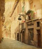 Retro image  of Сarrer de les sitges  street,  Barcelona. - 51262220