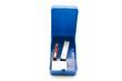 Blaue Box mit Speichermedien