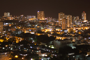 Vedado Quarter at night, Havana, Cuba