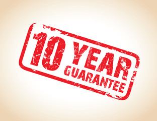 ten year guarantee stamp