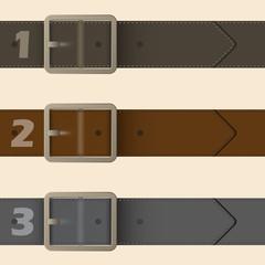 Belt buckle infographic design